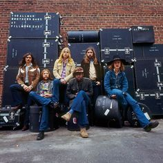 The Allman Brothers Band, 1971, NOT photographed in New York, but outside their Macon studio months later for the cover of At Fillmore East
