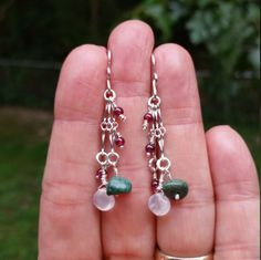 Hippie Goddess Earrings Sterling Silver Turquoise Moonstone Wire Wrapped Earrings Boho One Of A Kind Jewelry by PeacefulVibesJewelry on Etsy