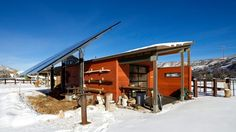 Architecture, Aspen Ski Resorts Colorado Vacation Contemporary Architecture Designs Snowmass Lift Tickets Rentals Area Lodging Solar Cell Wooden Home Wall Window Shelves Mountain Workshop: Charming, Picturesque Rural Villa Outside Aspen, Capturing Views of Ski Areas