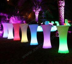 High cocktail tables-LED furniture, illuminated furniture, glow furniture