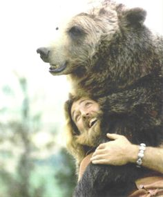 Grizzly Adams and Ben.  I loved watching this show as a kid!