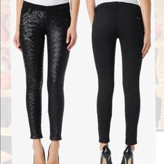"Hudson Vice Versa ""Krista"" Super Skinny Jean. Hudson Vice Versa ""Krista"" Super Skinny Jean. Black; full-sequin front. Hudson Jeans Jeans Skinny"