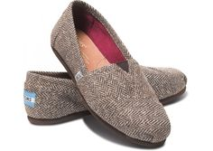 Women's TOMS Brown Metallic Herringbone at Red E Surf