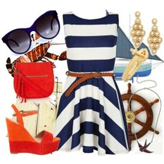 nautical outfit....for my summer days on the yacht!
