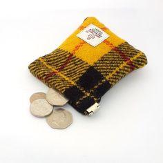 Harris tweed Macleod mens purse pocket change g. Unique Purses, Cute Purses, Fashion Handbags, Purses And Handbags, Macleod Tartan, Designer Bags Sale, School Purse, Harris Tweed Fabric, Madewell Tote