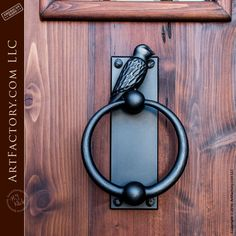 Iron door knocker - bird design - on our Hand Made Door  - EDFP654