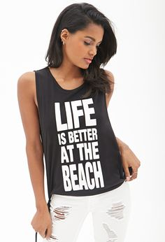 Beach Life Muscle Tee #SummerForever