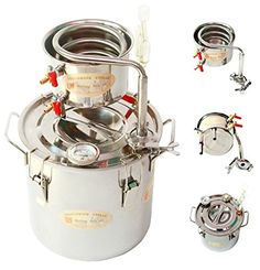 DIY 3 Gal 12 Liters Home Distiller Moonshine Alcohol Whiskey Water Still Stainless Boiler Thumper Keg Ama_TrulyStep http://www.amazon.com/dp/B00YD1FV8S/ref=cm_sw_r_pi_dp_Y76nwb0Q5BC9J