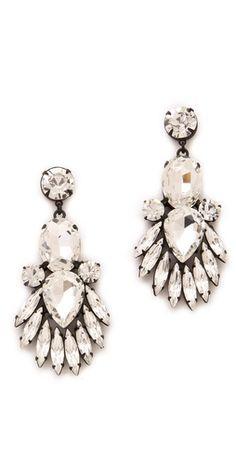 Noir Jewelry Nightfall Crystal Drop Earrings #AEDreamwedding