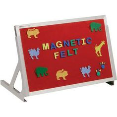 "Magnetic Tabletop Easel - Whiteboard/flannel - 18""h X 24""w"