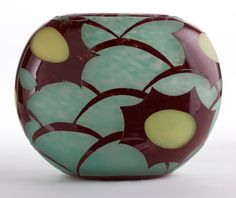SCHNEIDER LE VERRE FRANCAIS GLASS COSMOS VASE  Charles Schneider Glassworks, Épinay-sur-Seine, France, circa 1930