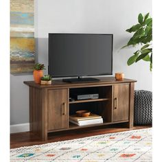 "Modern Tv Stand For Flat Screems Up To 42"" Storage Entertainment Media Cabinet #ModernTvStand"