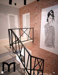 Schody styl Industrialny - zdjęcie od Mart-Design Architektura Wnętrz - Schody - Styl Industrialny - Mart-Design Architektura Wnętrz Staircase Handrail, Modern Staircase, Stair Railing, Railing Design, Staircase Design, Home Room Design, House Design, Winding Stair, Interior Stairs