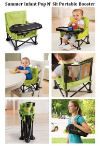 Summer Infant Pop In N Sit Portable Booster From Baby And Toddler Girls And  Boys On Booster Seat For 3 Point Harness