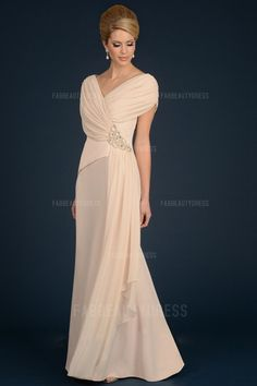 A-Line/Princess V-neck Floor-length Chiffon Mother of the Bride Dress