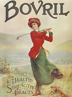 z- Woman Golfer (Bovril For Health, Strength & Beauty- ad)