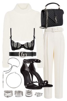 """""""Untitled #20816"""" by florencia95 ❤ liked on Polyvore featuring Emilia Wickstead, Roberto Cavalli, Yves Saint Laurent, Alexander Wang, Gucci, L'Agent By Agent Provocateur, Forever 21 and Monica Vinader"""