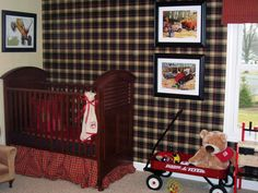 Everything that's old is new again in this traditional baby boy's nursery. The use of different plaids in varying sizes creates a vintage warmth and charm. Design by Trish Beaudet.