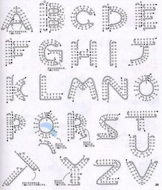 Best 11 Crochet Pattern For Every Letter In The Alp - Crochet Quilling Ideas Crochet - Diy Crafts Appliques Au Crochet, Crochet Motifs, Crochet Diagram, Crochet Chart, Crochet Stitches, Crochet Symbols, Applique Patterns, Crochet Basics, Crochet Flowers