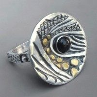 Onyx Woodcarving ring.