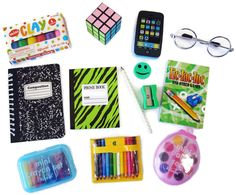 doll accessories School Supplies Set for 18 American Girl Dolls Accessories Silver Eyeglasses American Girl Doll Room, American Girl Crafts, American Dolls, American Girl Stuff, American Girl Furniture, My Life Doll Accessories, American Girl Accessories, Doll Clothes Barbie, Barbie Toys