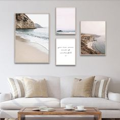 Beach Cliffs Seascape Coastal Landscape Gallery Wall Art Fine Art Canvas Prints Modern Nordic Style Pictures For Living Room Dining Room Decor Living Room Decor, Bedroom Decor, Living Rooms, Landscape Walls, Landscape Posters, Landscape Photos, Living Room Pictures, Wall Pictures, Scandinavian Home