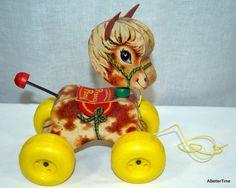 Vintage Fisher Price Prancy Pony pull toy