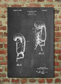 Boxing Glove Patent Art Print, Patent Art, Blueprint, Patent Print, PatentPrints PP517 by PatentPrints on Etsy https://www.etsy.com/listing/206939642/boxing-glove-patent-art-print-patent-art #PatentArtDecor