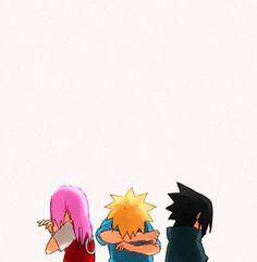 Development of Naruto, Sakura, and Sasuke