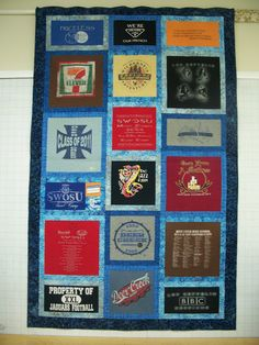 Twin Size Custom Made T-Shirt Quilt