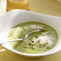 Purchased pesto seasons this creamy broccoli soup with basil. Serve it with a sandwich or salad for a light meal or as a first-course.