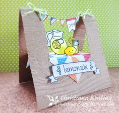 """Hi Bloggers! Happy Sunday to you!! If you're anything like me, you squealed with delight upon gazing at this gorgeous Lawn Fawn card by Christiana Reuling! """"Make Lemonade"""" has always been a personal f"""