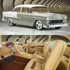 awesome 1955 Belair with a 435hp crate LS3 connected to a Tremec 6 speed...  Classic Muscle Cars