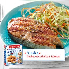 50 States in 50 Days:  Alaska ::Barbecued Alaskan Salmon Recipe from Taste of Home.    Find regional Western recipes like this one and more in our new cookbook, Recipes Across America---->  http://www.tasteofhome.com/rd.asp?id=22997