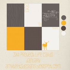 Amy Teets' Designs: January Project Life Cards {365 Scrapbooking}