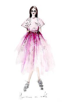 Erfahre, wie du deine deine eigenen Modezeichnungen erstellen kannst und auf was du achten musst + einfach Erklärung in 3 Schritten. Fashion Illustrations | Fashionsketch | Fashionsketchbook |ModeIillustration | Hermine on walk