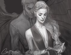 Feyre and Rhys by Charlie Bowater
