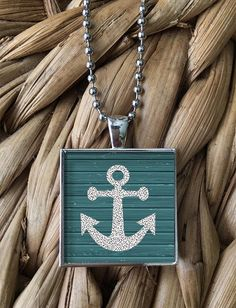 Nautical Anchor Pendant Necklace by MoonPoppyDesigns on Etsy