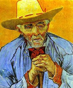 Portrait of an Old Peasant ~ Vincent van Gogh 1888