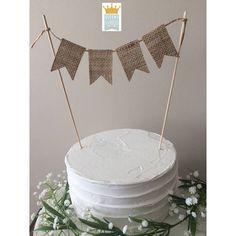 Cake bunting Cake Topper Burlap cake topper Rustic Cake
