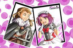 """#COMIC #LIBRO #CROWDFUNDING - Postales. Otakus y Mazmorras es una tira cómica que ilustra las aventuras de dos personas de lo más normal: Sara (fan del mangamine y el cosplay) y César (asiduo jugador de rol y amante del heavy metal). """"Otakus y Mazmorras, el libraco"""" es una recopilación a todo color de estas tiras... con algunos extras. Crowdfunding Verkami: http://www.verkami.com/projects/11999-otakus-y-mazmorras-el-libraco"""