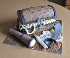 Pirate treasure chest cake.