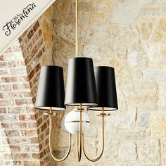 Casa Florentina Nicoli 3-Light Chandelier with Shades