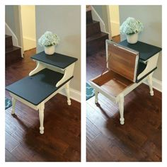 Two Tiered End Table Diy Furniture Flip Fix Recycled Projects