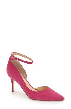 Ivanka Trump 'Brita' Ankle Strap Pointy Toe Pump (Women)