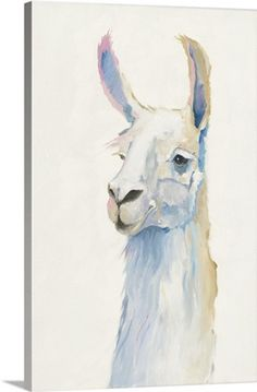 The unique design give this Brushstone Bianca by Anne Tavoletti Removable Wall Art Mural its colorful appeal. This peel-and-stick canvas wall decal features the image of a llama in watercolor and comes in your choice of available size options.