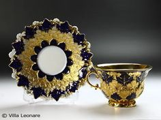 Meissen  cobalt and gold