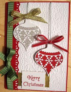 Stampin Up Christmas Card Kit Ornaments Snow   eBay