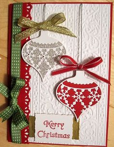 Stampin Up Christmas Card Kit Ornaments Snow | eBay