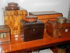 ~ decorating with collections...I have a collection of wood boxes, small and odd, one has a plaque that says it was made from the cedar trees at Andrew Jackson's  home.
